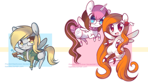 Chibi Pony set 2 by pekou