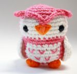 Pink Owl by tinyowlknits