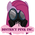 Art Request - District Pink Inc. Logo by ZearouAyedea
