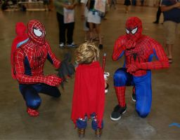 Baby Cloud Strife with Spidermen by drake12483