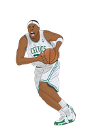 Paul Pierce Vector by fullevent