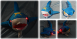 Light-up Sharpedo Plush by Diffeomorphism