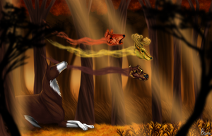 spirits of the fall by b1-l00zer