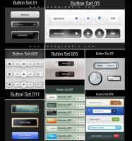 Free Botton Set 1-11 Psd by kiattikun