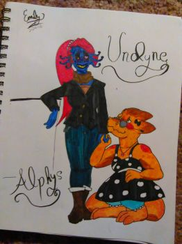 Undyne and Alphys by emeerydafabcat