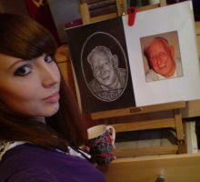 Drawing a Portrait by ChemicalsSavedMe