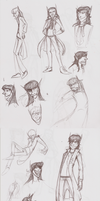 Character Concept Sketches Batch 1 by the3Ss