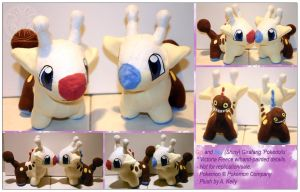 Girafarig Pair - Plush by RadiantGlyph