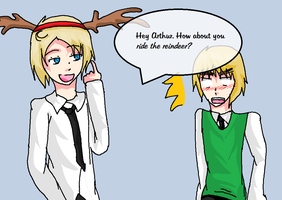 Alfred's Pickup Line - USUK Christmas by Angelicheartbeats