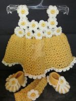 Handmade Baby Crochet set by MagicalString