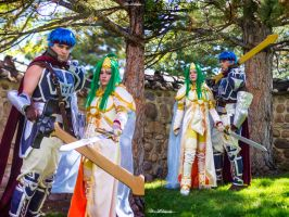 Fire Emblem ~ Ike and Elincia by bluerosegoddess