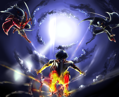 SMT - Demifiend vs. Fourteenth by bahamutneo
