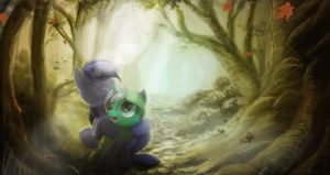 Don't wander alone in the Everfree by CalamityB31