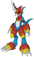 Flamedramon -Vector- by MonsterArkham