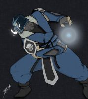 Hidatsa's Sub-Zero in color by runningoutofblackink