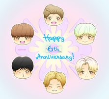 [B2ST] Happy 6th Anniversary~ by IperGiratina98