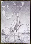 Greeting card: Great Egret by KeezRha