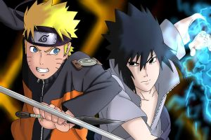 Naruto fight sasuke by freaky135
