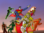 Justice League Earth 2 - DC2 by herrenmedia