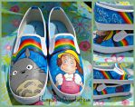 Totoro Shoes for Meghan by ChumpShoes
