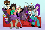 This Couch Can't Possibly Fit All Of Us by Cassadiller