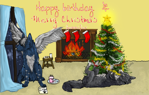 Christmas BDay Commission by Fallayre