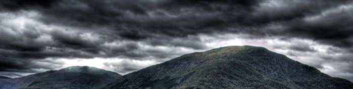 Clouds and Mountains by Larderer
