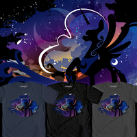Luna Silhouette Shirt by SpaceKitty