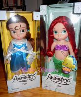 Belle and Ariel Disney Animators' Collection Dolls by SailorSamara