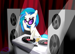 Vinyl scratch by PoisonicPen