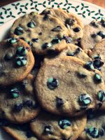 Mint Chocolate Chip Cookies by jam-tart