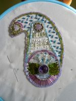 WIP Beaded Paisley Purse Panel by WhiteAntCrawls