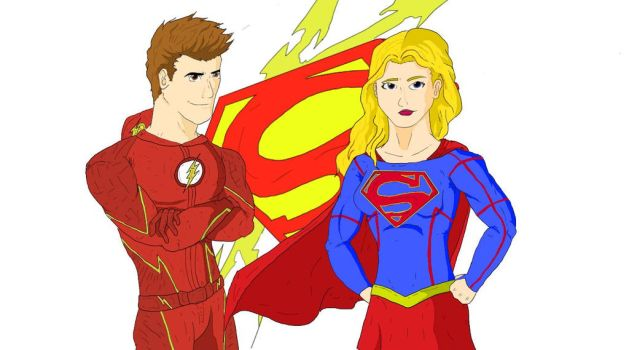 The Flash/Supergirl: World's Finest by Razanul