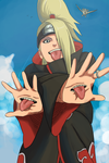 Deidara Colouring by ArtyTrigger