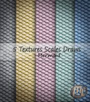 Scales Textures Mermaid Draws by Maryneim