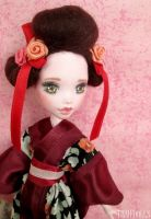 Japanese Girl  - Customized Draculaura (MH) doll by Katalin89