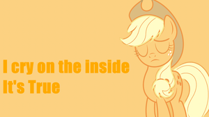 I cry on the inside Wallpaper by SailorTrekkie92