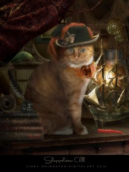 Chilli The Ship Cat by CindysArt