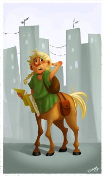 Little Centaur in the Big City by solray-chan