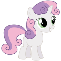 Sweetie Belle grins by Paddixx