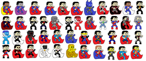 Superman Suits and Characters by dcmasterrob