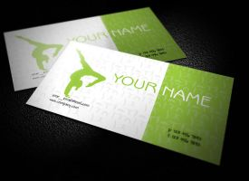 Free Yoga Teacher Business Cards Design by BorceMarkoski