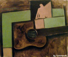 guitar abstract painting by TOMMERVIK