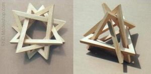 4 Triangles wood sculpture by RNDmodels
