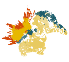 Cyndaquil Paint Splatter Graphics by HollysHobbies