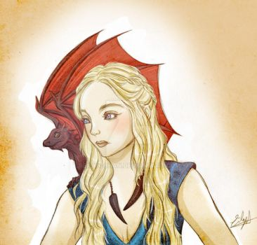 Daenerys Targaryen (Game Of Thrones) by Eilyn-Chan