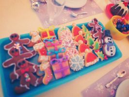 Christmas cookies by LittlestSweetShop