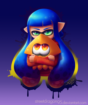 Splatoon fanart: Squiddy Cuddles by streetdragon95