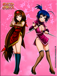 Ajimu And Medaka Kunoichi Cosplay Colored by Kurogane-Raziel