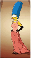 Marge Simpson as Halle Berry by paulibus2001